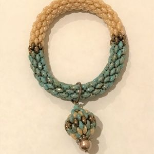 Jewelry - 3 Color Slip On Beaded Bracelet w/Swarovski Pearl